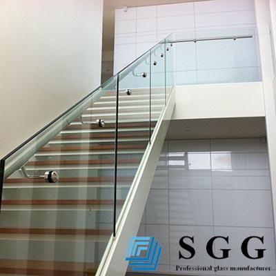 Claro templado escalera barandilla y barandilla paneles de vidrio m2 precio buy escalera de - Cristal templado precio m2 ...