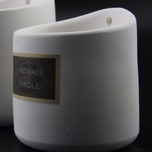 Cement jar making handmade aromatic soy wax candle