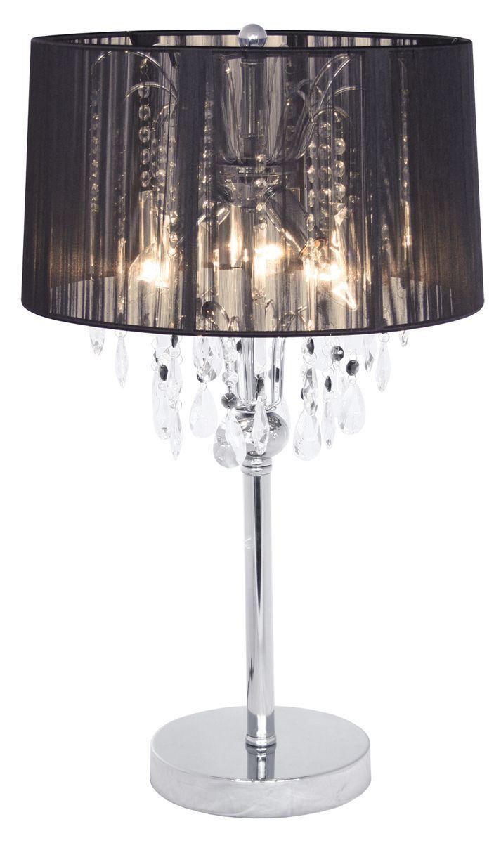 TB0427 053 Modern Crystal Bedside Black Table Lamp