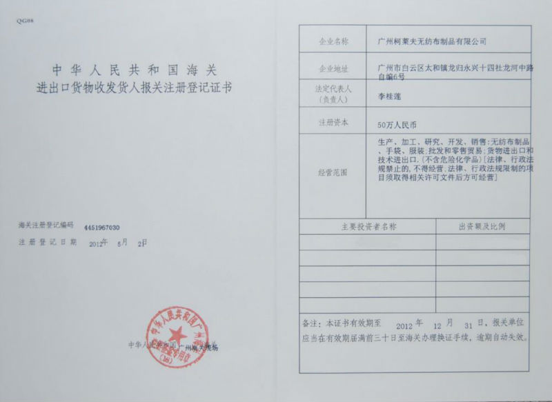 import&export license
