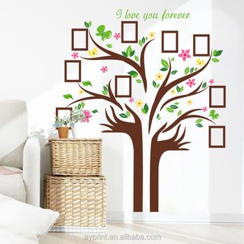 Hm94001 Modern Decor Big Family Tree Photo Frame Wall Sticker Creativity Diy Home Bedroom Tv Removable Wall Deca Buy Home Decor Photo Frame Home Decor Photo Frame Photo Frame Wall Decal Product On