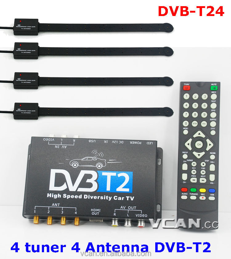 Car Dvb-t2 Vhf Uhf Antenna Tuner Dvb-t24 Universal Tv Tuner Box - Buy  Internet Tv Receiver Box,External Analog Tv Tuner Box,Car Dvb-t Tv Tuner