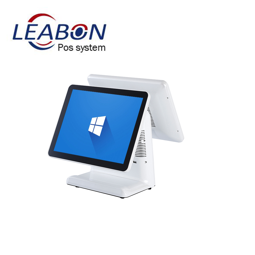 Dual screen touch screen pc windows Android pos machine