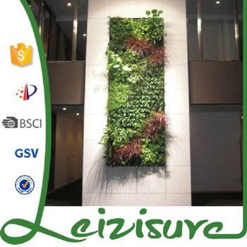 2017 Vertical Garden Planter Artificial Leaf Wall And Wall Hanging Plastic  Flower Pots