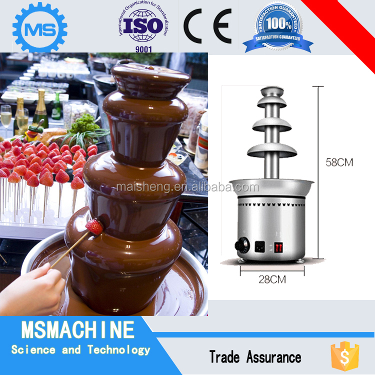 Electrics 4 Tier Stainless Steel Melt Maker Chocolate Fondue Fountain Machine