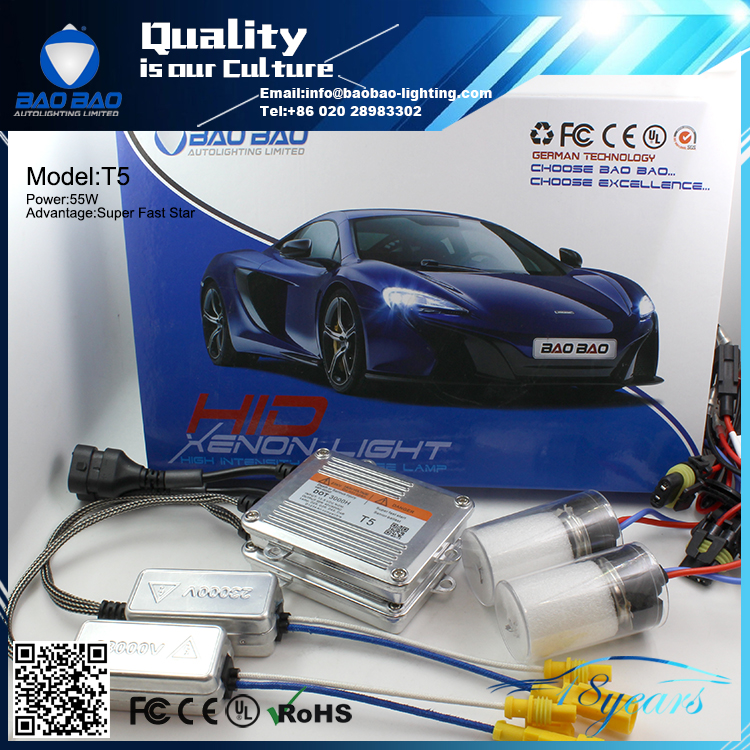 Top quality full power factory directly sell hid lamp conversation kit 55W 9-16v quick start headlight hid xenon ballast
