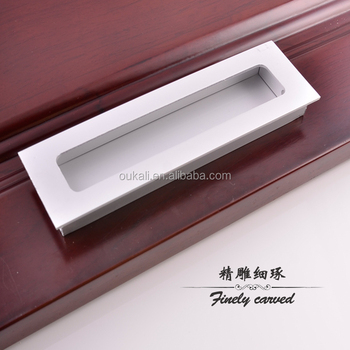 China Hardware Manufacturers New Fancy Aluminium Kitchen Profile Sliver  Hidden Cupboards Wardrobe Door Cabinet Handles