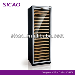Large Capacity Hotel & Restaurant Commercial Wine Cooler Refrigerator With Compressor Fan Cooling