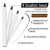 2019 new 2 in 1 tattoo brow private label eyebrow extension pencil liner wholesale manufacturer