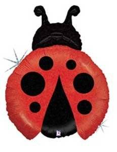 """Single Source Party Supplies - 27"""" Ladybug - Red Mylar Foil Balloon"""