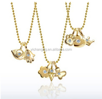 New Design Cute Pendant For Girl, 316L Stainless Steel Gold Necklace