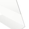 Angled Acrylic Sign holder 8.5 x 11 Frames, Slant Back Styrene Sign Holder, Slanted PETG Sign Holder