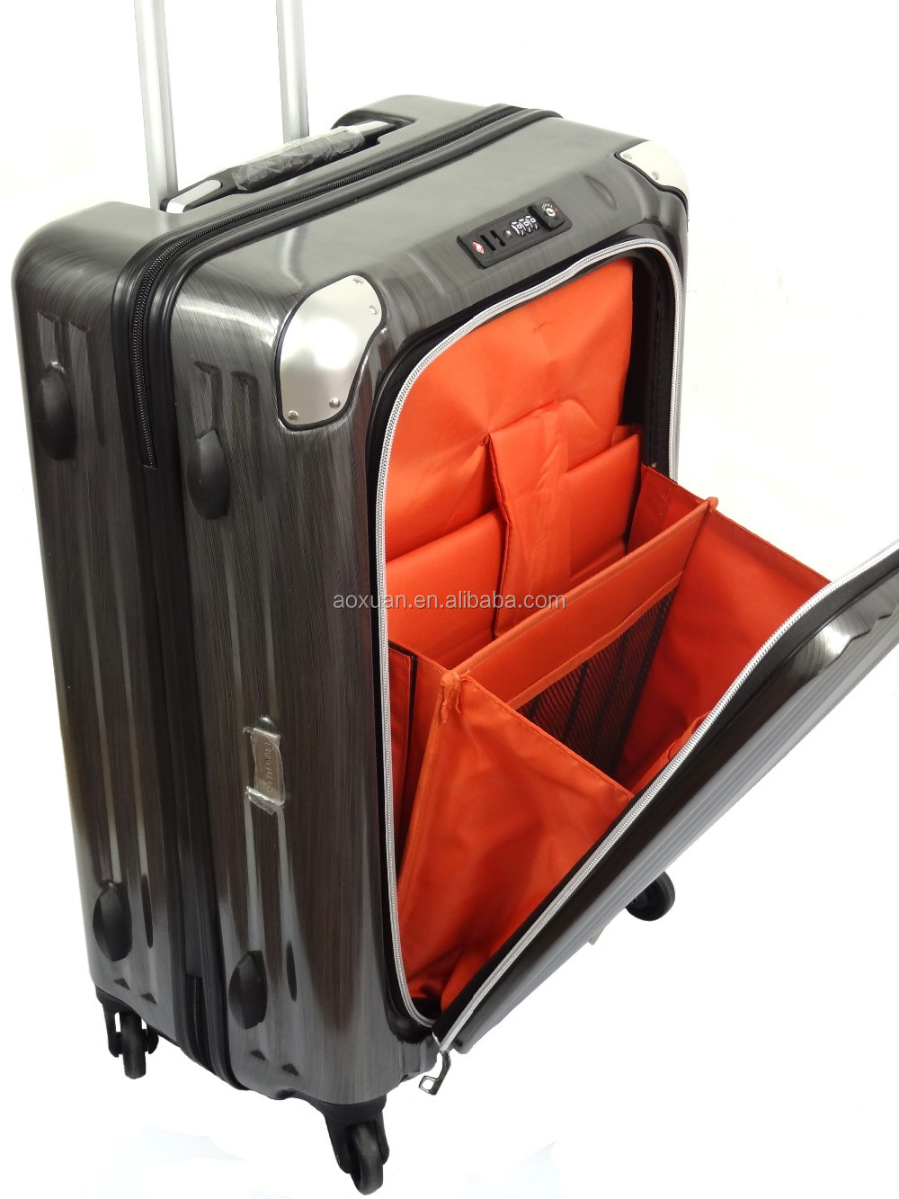 Zipper Pocket Luggage Abs Pc Hard Shell Spinner Luggage - Buy Zipper ... 5e585a7aa8