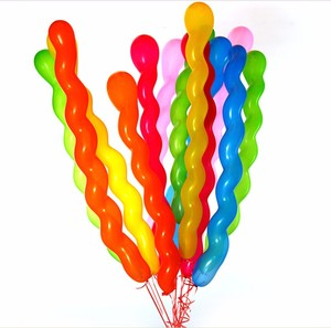 promotional balloons Christmas toy Screw/ spiral shaped latex balloon snake balloon