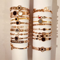 Wholesale fashion ladies gold stainless steel bangles for female