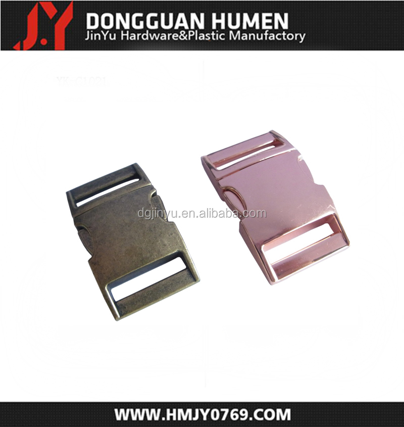 Jinyu rose gold metal buckle/metal buckle for handbags/custom metal buckle