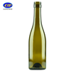 Round Shape Dark Green 750ml Empty Glass Wine Bottle with Natural Corks