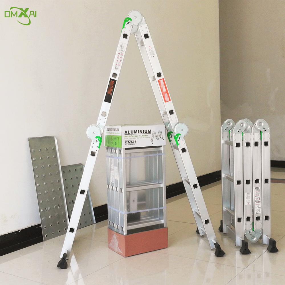 EN131 Adjustable Multipurpose Aluminium Folding Step Ladder with big / small hinge