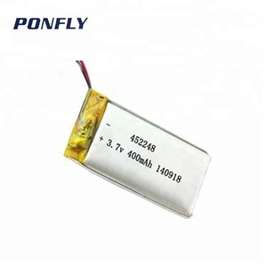 Li-ion rechargeable 452248 3.7v 400mAh li-polymer battery