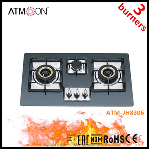 3 Burners Built-in Tempered Glass Gas Hob/gas Stove/cooktops