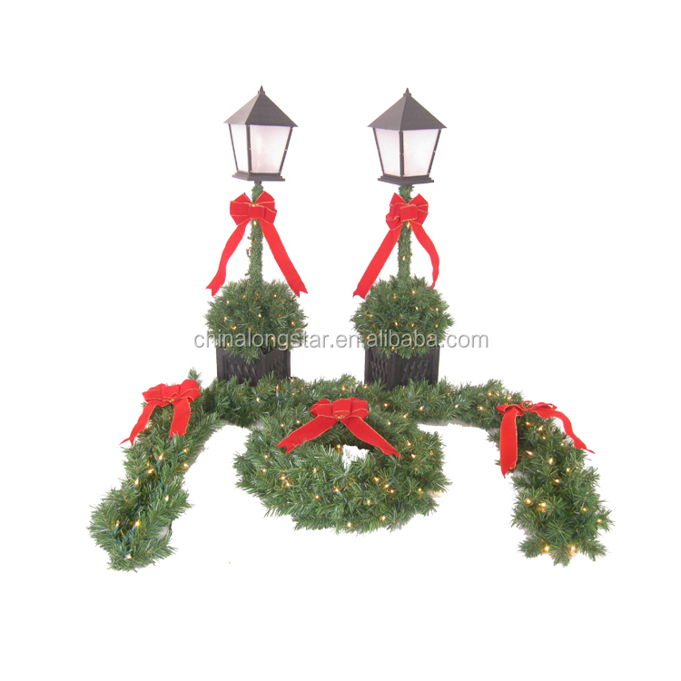 fireproof christmas decorations pe christmas garland view pe christmas garland longstaroem product details from shaanxi longstar new material technology
