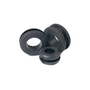 OEM ODM China factory Customized flame retardant Silicone rubber cable bushing and moulded sealing EPDM washer rubber grommets