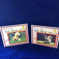 Clear Acrylic Set Of 2 Grandparent Picture Photo Frames