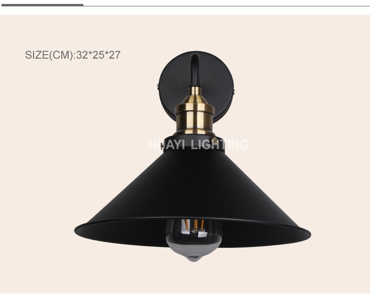 Guzhen HUAYI Top sales antique style indoor lighting loft wall lamp