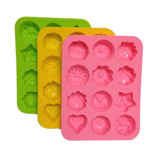 1 шт. 20 * 16 см высокое качество DIY кухня маффин кекса формы для выпечки силиконовые резины выпечки формы шоколадное яйцо пирог плесень 12 цветы образуют