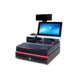 POS Stainless Steel Cash Register Drawer Electronic Cash Register For Cashier Machine with Printer Panel Display Keyboard