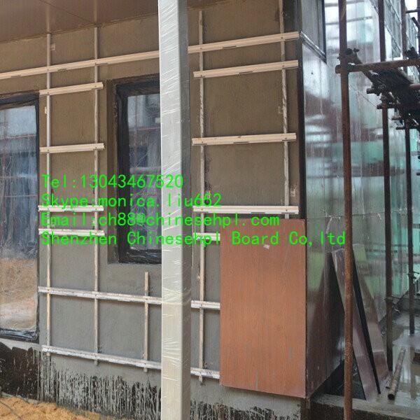 new hot vente moderne fa ade mat riau ext rieur mur de gainage de bardage hpl feuille panneau. Black Bedroom Furniture Sets. Home Design Ideas