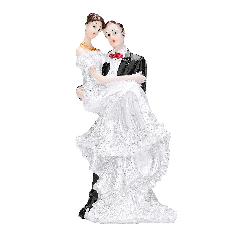 TtoyouU Wedding Couple Cake Topper Bride and Groom Cake Topper Couple Figurine-Elegant Embrace