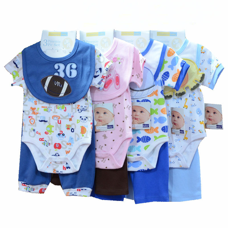 1547ba30d Get Quotations · FASHION Carters Original Cartoon 0-9 Month BABY BOY GRIL CLOTHES  Infant Clothing Set 3PCS