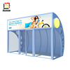 outdoor furniture Dubai arc-shaped indoor bus shelter with air conditioner