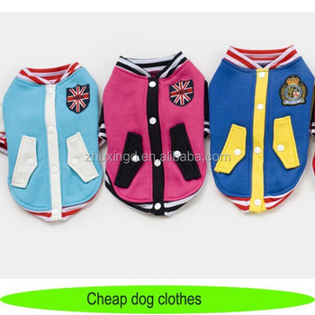 Cheap designer dog clothes, baseball suit clothing for pets, dog clothes wholesale