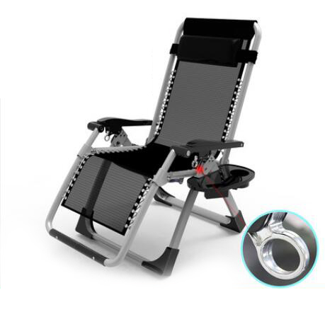Garden Outdoor metal zero gravity lounge chair for Backyard with Pillow and Cup Holder