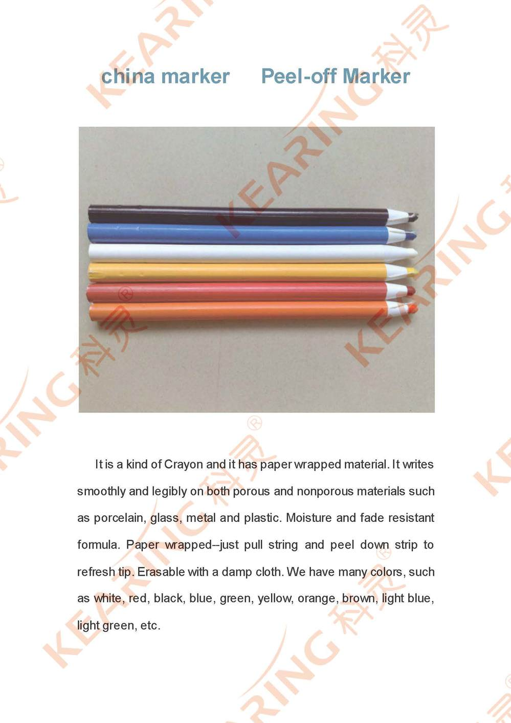 Chinese Manufacturer Oem Colourful China Crayon Marker / Non Toxic ...
