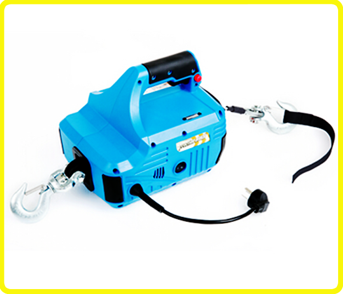 110v portable small electric hoists , AC 120v 500lb cable hoist electric , portable home electric engine hoist