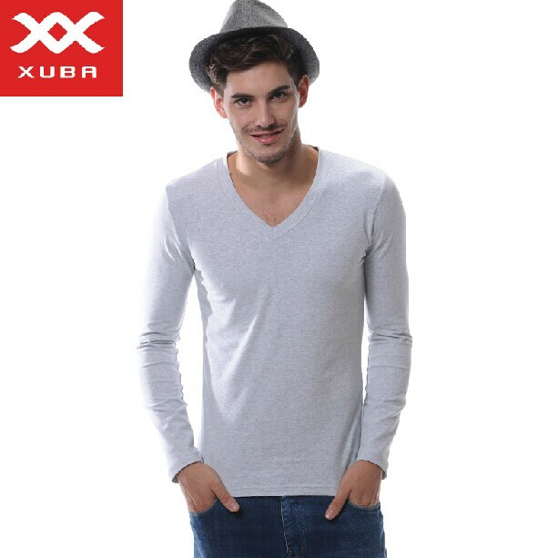 FreeshippingNew 100%Cotton Men's long-sleeved cotton shirt Long Johns Top Thermal Underwear Bottoming Shirt 6 colors S M L XL