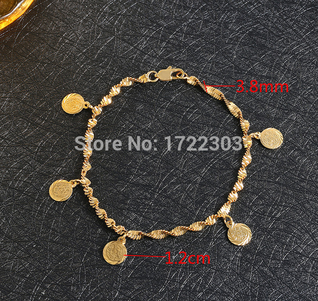 21CM 24Kgold plated muslim allah ancient coins bracelet bangles turkish egyptian algeria moroccan saudi gold <strong>jewelry</strong>