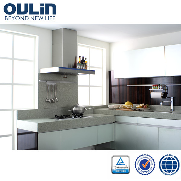 Oulin High Quality European Style Modern Modular Kitchen For Project