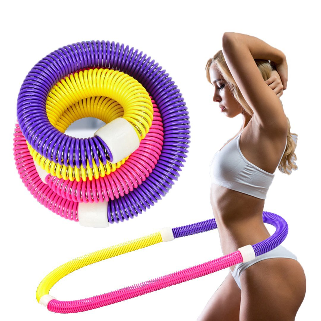 Anyasun Weighted Hula Hoop Soft Spring Flexible Exercise Portable Fitness Slimming with Waist for Man and Women