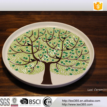 White Porcelain Dinner Plate 8 inch 10.5 inch Plate design tree of life