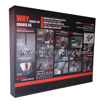 Trade Show Display Banner Fabric Pop Up Event Backdrop Stand