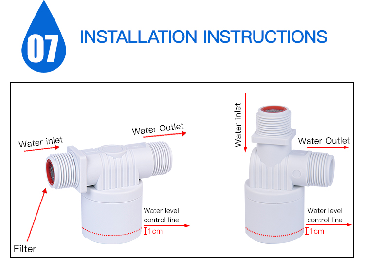 1inch ,DN25 automatic float level ball control valve for solar and heater water tank