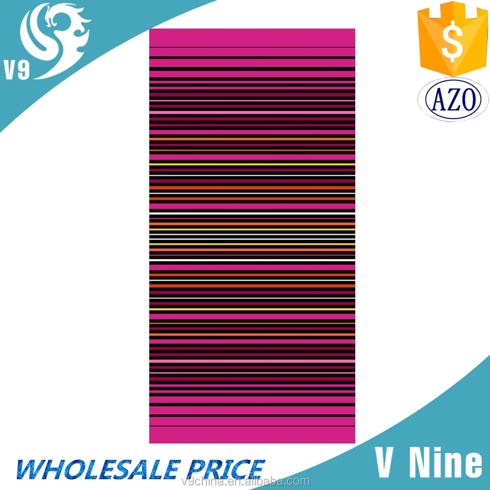 factory promotion 100% cotton velour reactive custom logo printed beach towel decorative towel folding