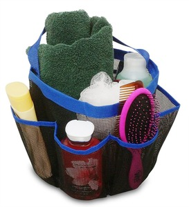 Shower Tote Portable Caddy For Bathroom Shower, Camping, Dorm, Storage Organizer Hanging Mesh Shower Bag