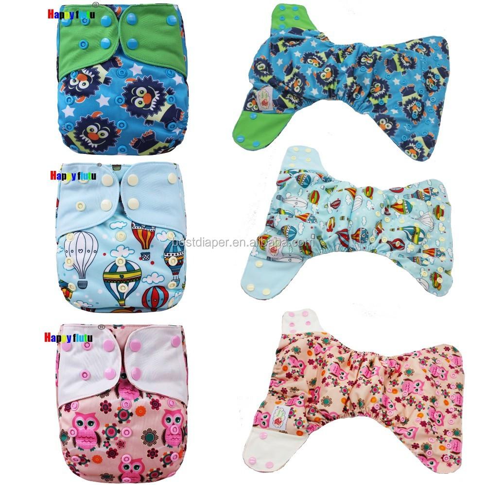 Happy Flute Baby Ai2 Cloth Diaper Reusable Cotton Aio ...