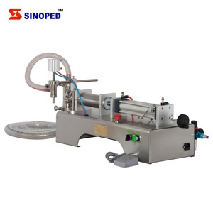 Pneumatic semi auto liquid/paste filling machine