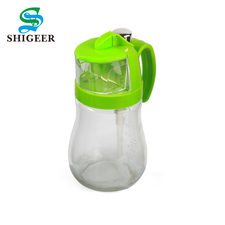 Hot Sale Wholesale Price Customized Kitchen Use 600ML Cooking Glass Oil Pot With Handle